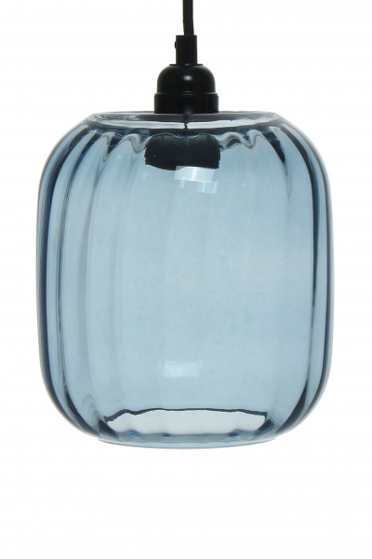 Lustra din sticla Gloria albastra, un bec