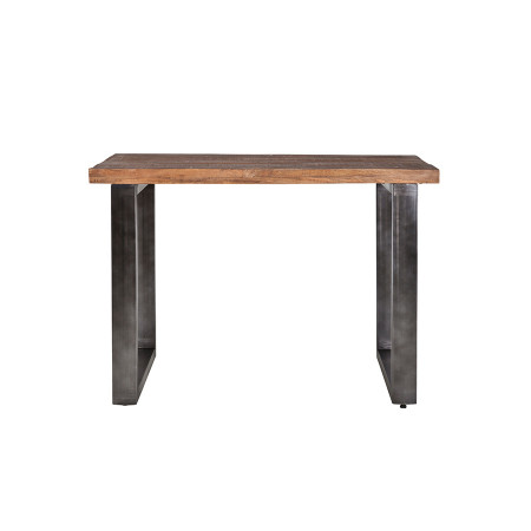 Masa de bar dreptunghiulara din lemn de mango 140x80x90 cm maro