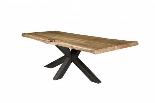 Masa dreptunghiulara cu blat din lemn Star 180x90x78 cm maro/negru