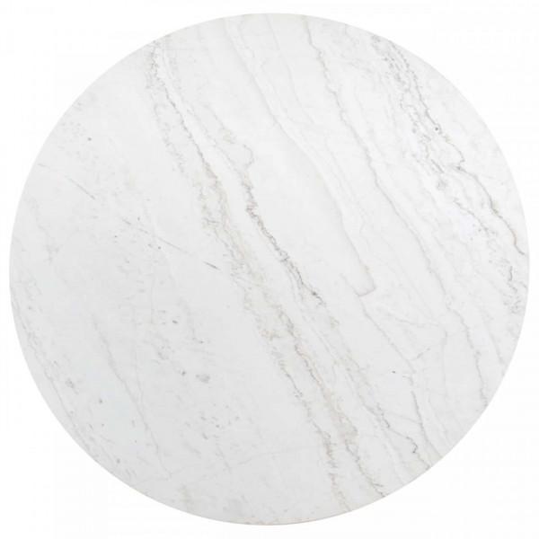 Masa rotunda cu blat din mamura Lexington 76 x 130 x 130 cm alb/negru