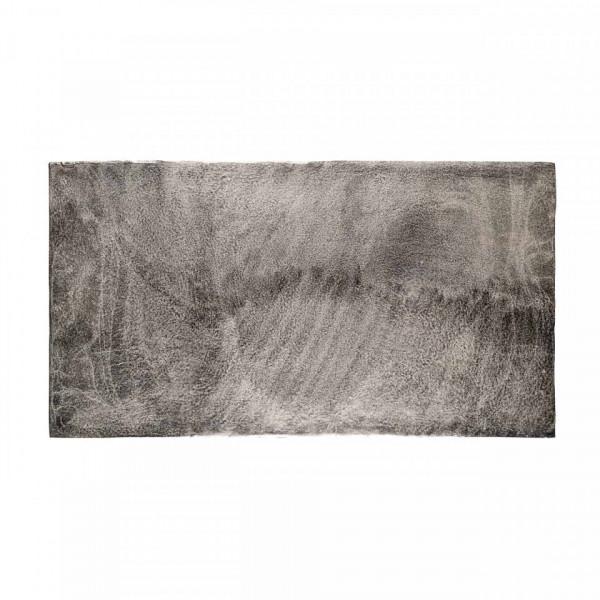 Masuta de cafea dreptunghiulara din metal Lanson 47x120x65 cm neagra