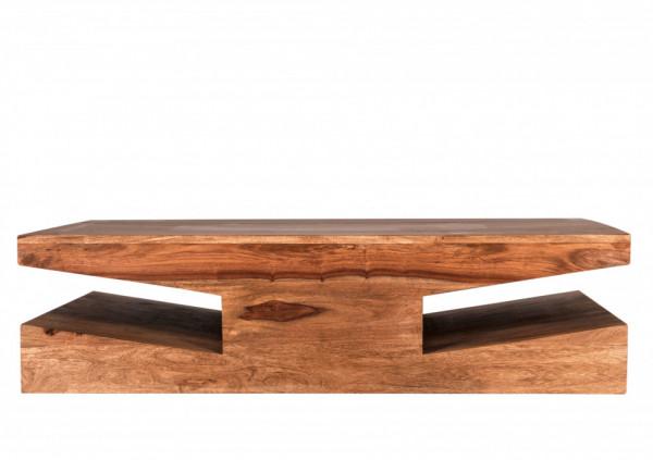 Masuta de cafea dreptunghiulara din salcam Goa 110x60x30 cm maro