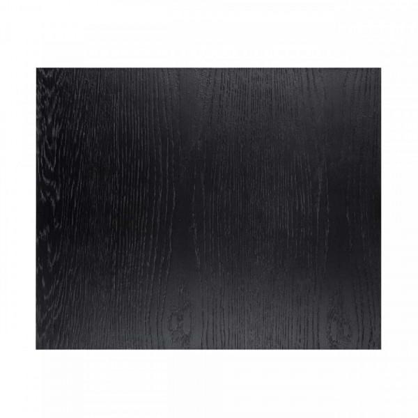 Masuta de cafea dreptunghiulara din stejar si metal Oakura 65x55x45 cm neagra