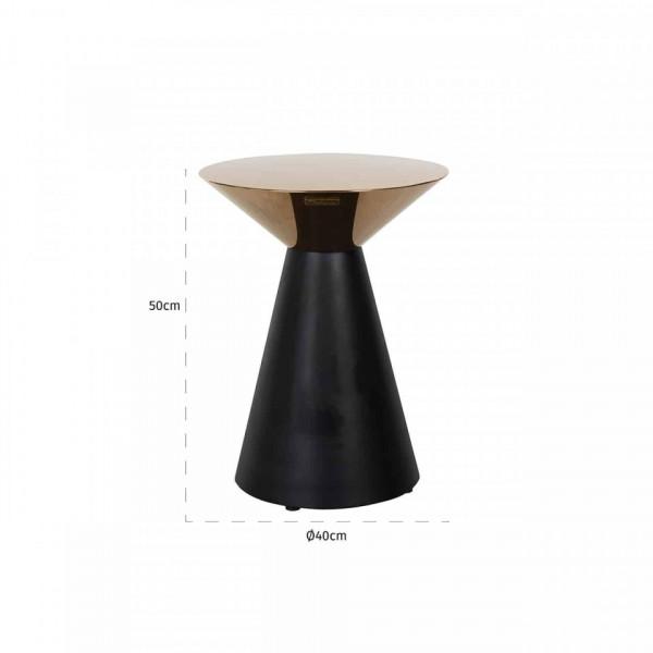 Masuta de cafea rotunda din metal Vector 40x40x50 cm aurie