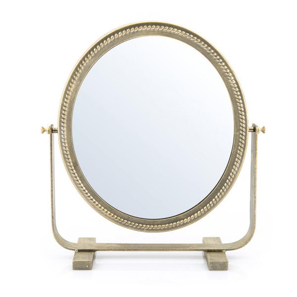 Oglinda rotunda cu rama aurie Mirr, 37 x 11 x 37 cm
