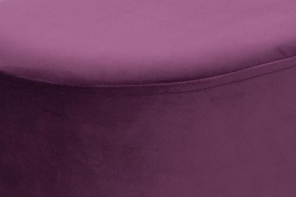 Puf/ Taburet tapitat Nano violet ignifug