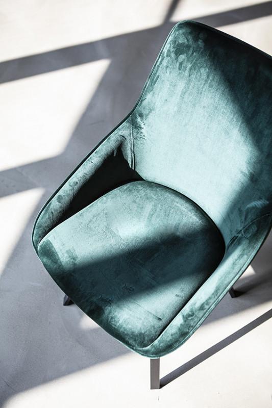 Scaun tapitat Beau verde
