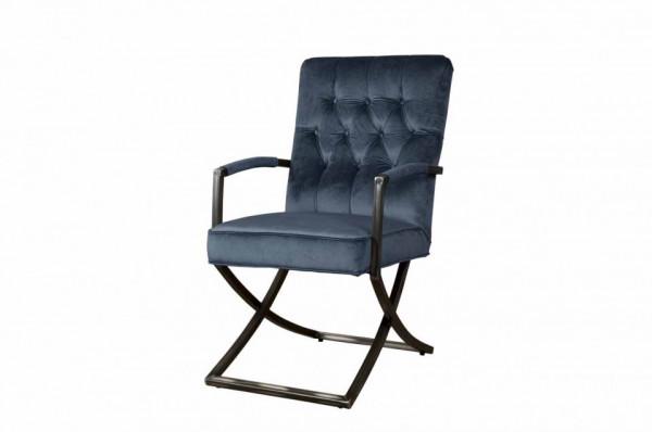 Scaun tapitat Luton albastru