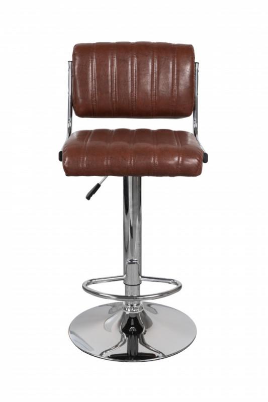 Set 2 scaune de bar rotative din piele sintetică Midnight vișinii