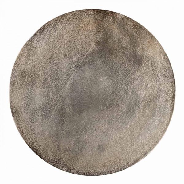 Set 3 masute de cafea rotunde din metal Nolan 60x42x42 cm maro