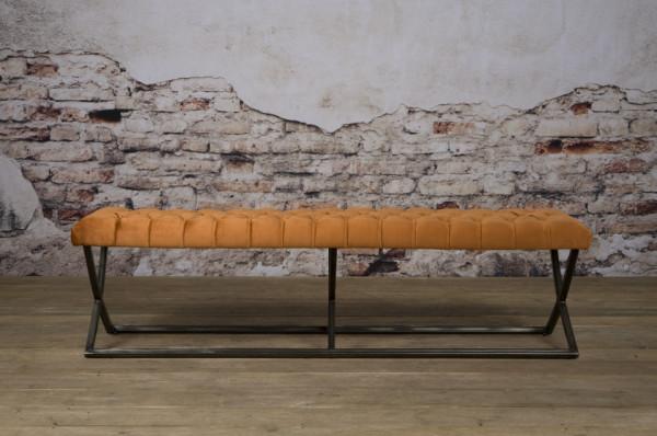 Bancheta Bolton din catifea/portocaliu