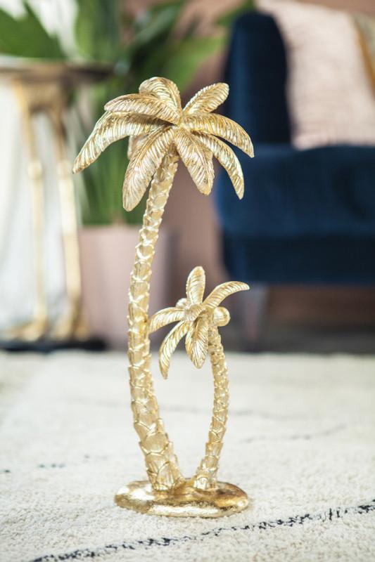 Decoratiune palmier Sanka, gold