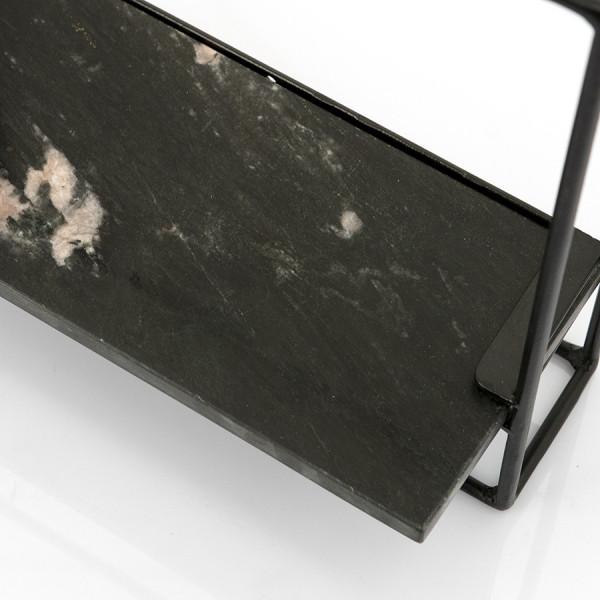 Etajera din marmura si fier Shelly 35x35 cm