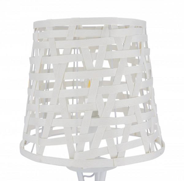 Lampadar din metal/ratan THIS & THAT 164 cm alba, un bec