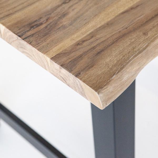 Masa de bar dreptunghiulara din lemn de salcam Acacia 195x80x90 cm maro