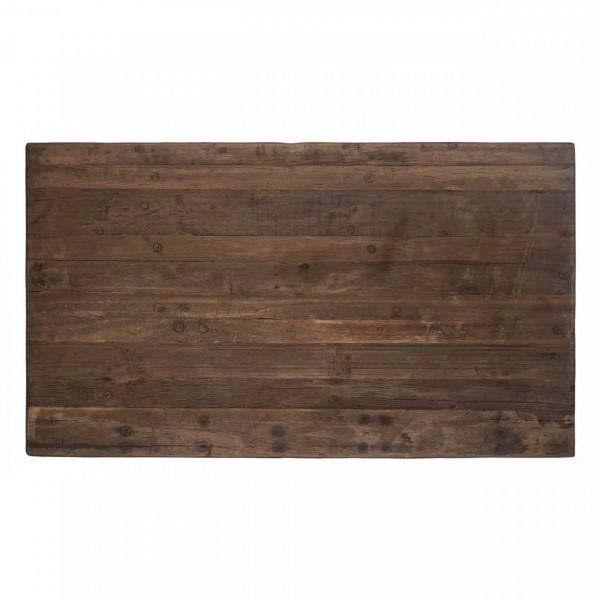 Masa de bar dreptunghiulara din lemn Raffles 105x140x80 cm negru