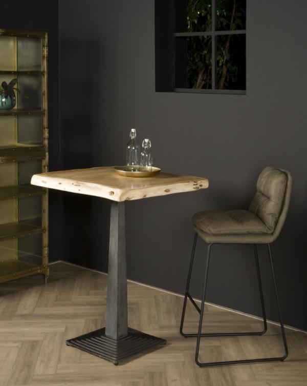 Masa de bar patrata din lemn 80x80x105 cm maro