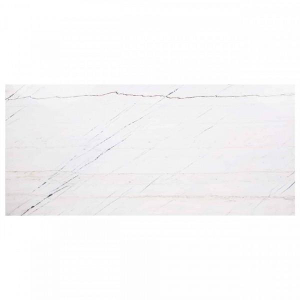 Masa dreptunghiulara cu blat din marmura Lexington 75 x 230 x 94 cm alb/negru