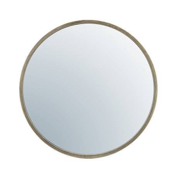 Oglinda rotunda cu rama aurie Selfie, 60 x 5 x 60 cm