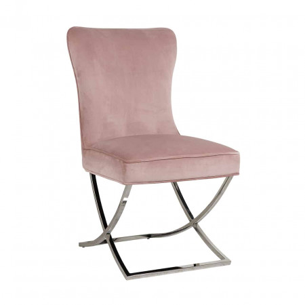Scaun tapitat Scarlett roz
