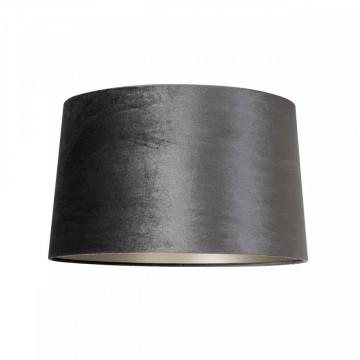 ABAJUR cilindric din bumbac Emily velvet graphite, diametru 40 cm