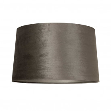 ABAJUR cilindric din polyester Jaylinn velvet taupe, diametru 40 cm