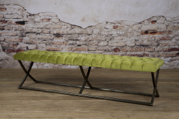 Bancheta Bolton din catifea/oud green