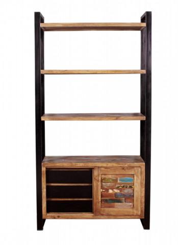 Biblioteca din lemn reciclat Mox 100x190 cm