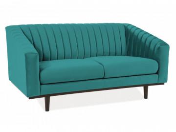 Canapea din catifea Asprey turcoaz, 2 locuri