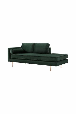 Canapea Estelle verde, 3 locuri, pe stanga
