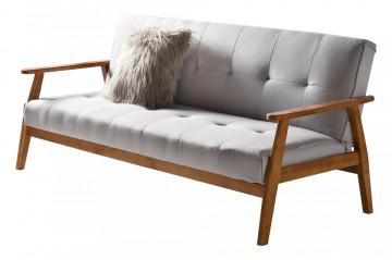Canapea extensibila gri deschis, 2 locuri