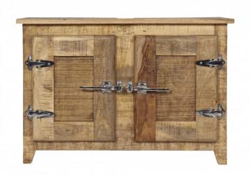 Comoda din lemn masiv Frigo, natural, 88 cm