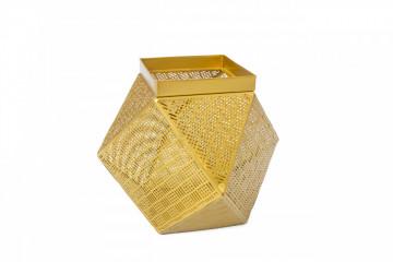 Cos decorativ din metal Alameda, auriu