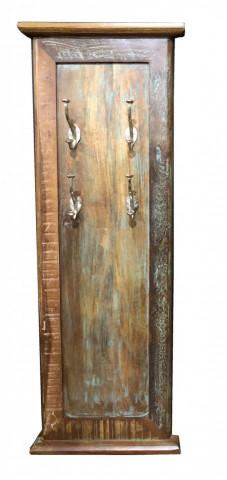Cuier din lemn reciclat Fridge 35 x 8 x 110 cm
