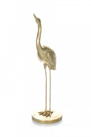 Decoratiune barza Heron, auriu