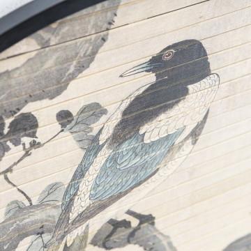 Decoratiune de perete rotunda Morita bird