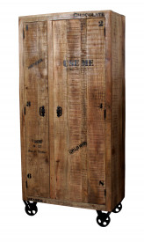 Dulap din lemn masiv Rustic 90x190 cm