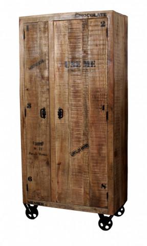 Dulap din lemn masix Rustic 90x190 cm