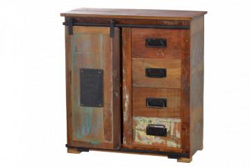 Dulapior din lemn reciclat Jupiter 80 cm