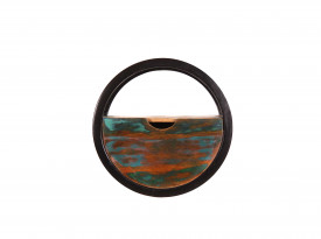 Etajera rotunda din lemn reciclat Rverboat 30 x 20 cm
