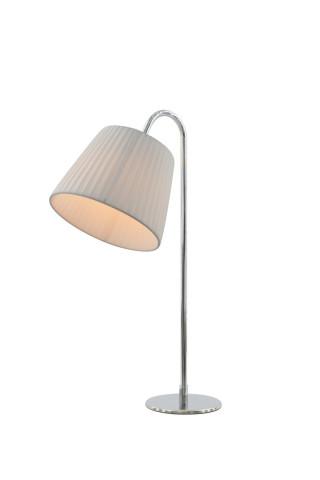 Lampa de birou din otel/latex 54 cm, alb