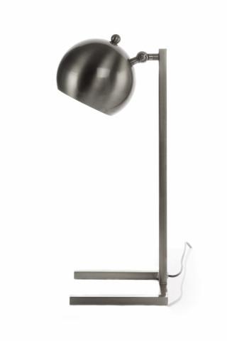 Lampa decorativa din fier Bruna argintie, un bec