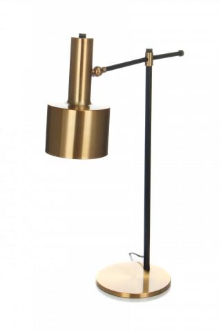 Lampa decorativa din metal Cassini bronze/neagra, un bec