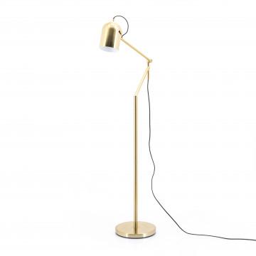Lampadar din metal Sleek auriu, un bec