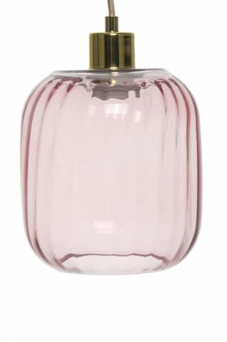 Lustra din sticla Gloria roz, un bec