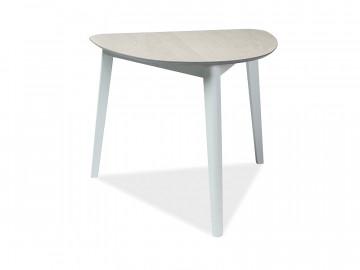 Masa cu forma neregulata cu blat din MDF Karl 80 x 90 x 75 cm alb / bej