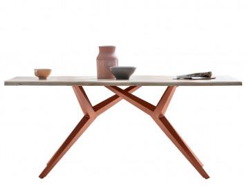 Masa dreptunghiulara cu blat din lemn de stejar Tables&Co 220x100 cm maro deschis/maro inchis