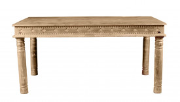 Masa dreptunghiulara din lemn de mango Lakadee 140x70x76 cm maro deschis