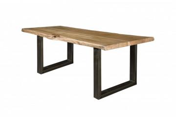 Masa dreptunghiulara din lemn masiv 200x100x78 cm maro