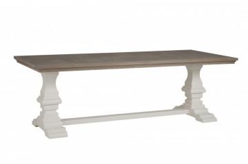 Masa dreptunghiulara din lemn Toscana 300x100x78 cm maro/alb